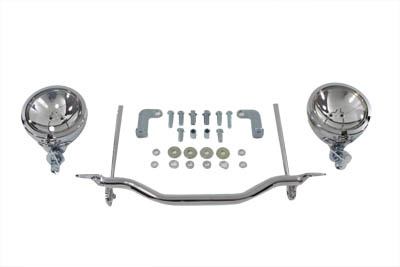 V-Twin 33-2030 - Chrome Spotlamp Kit