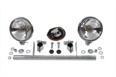 V-Twin 33-2032 - Chrome Spotlamp Kit with Ride Control