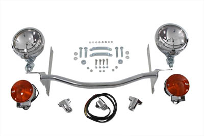 V-Twin 33-2036 - Chrome Spotlamp Kit