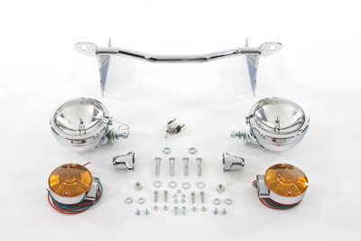V-Twin 33-2037 - Chrome Spotlamp Kit