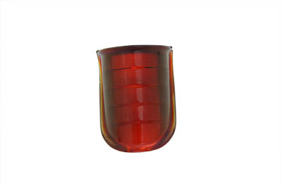 V-Twin 33-2052 - Tail Lamp Lens Beehive Style Glass Red