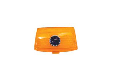 V-Twin 33-2083 - Amber Front Fender Tip Lens with Blue Dot