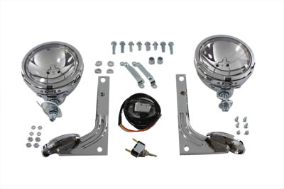 V-Twin 33-2087 - Police Pursuit Spotlamp Kit Clear