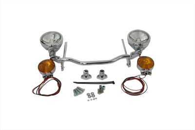 V-Twin 33-2205 - Chrome Spotlamp Kit with Turn Signals