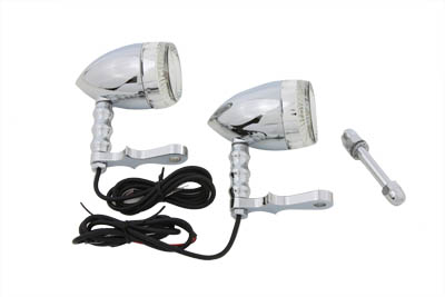 V-Twin 33-2225 - Bullet Turn Signal Set with Headlamp Mount