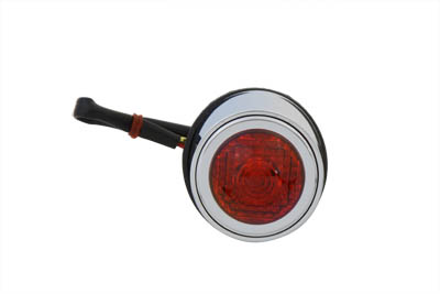 V-Twin 33-2243 - Tear Drop Style Tail Lamp with Red Lens