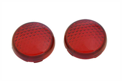 V-Twin 33-3063 - Turn Signal Lens Set Torpedo Style Red