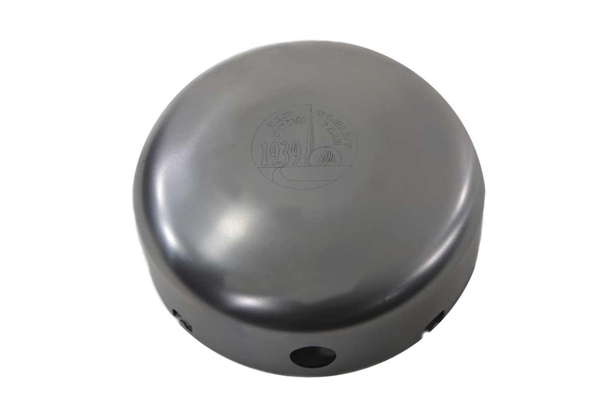 "V-Twin 34-0047 - Raw 6"" Air Cleaner Cover ""New York World's Fair"