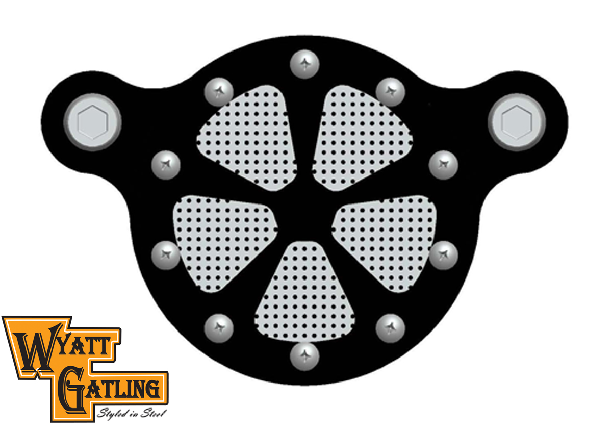 V-Twin 34-0233 - Spoke Style Air Cleaner Kit Black