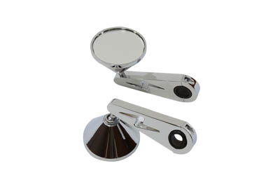 V-Twin 34-0368 - Cone Mirror Set with Billet Stems