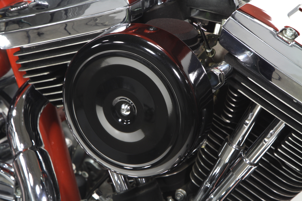 "V-Twin 34-0406 - 7"" Round Air Cleaner With Black Cover"
