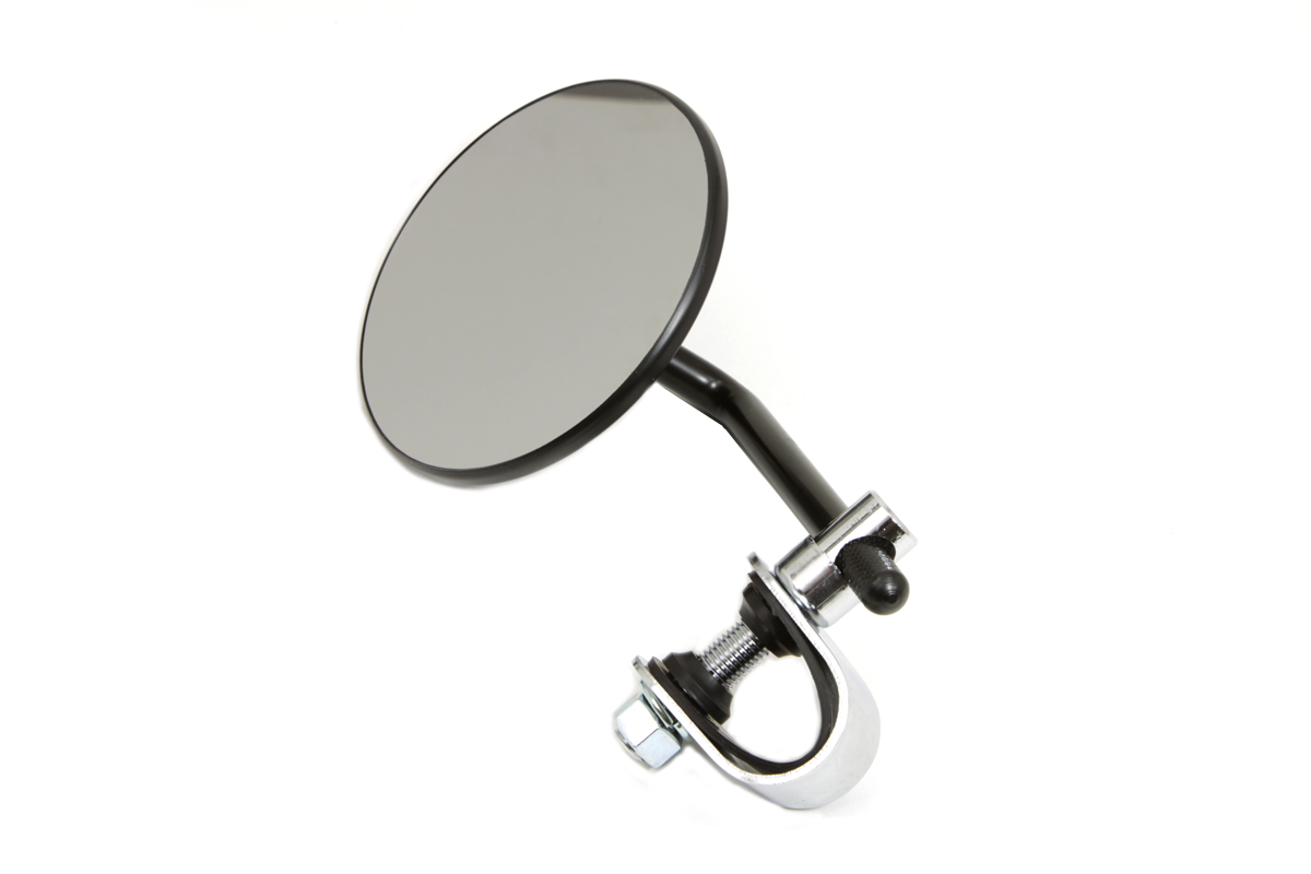 "V-Twin 34-0426 - 4"" Round Mirror with Clamp Black Steel"
