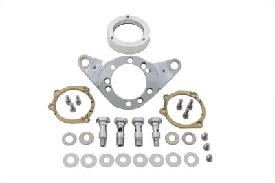 V-Twin 34-0445 - Air Cleaner Bracket Kit Chrome Billet