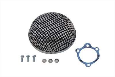 V-Twin 34-0501 - Chrome Round Mesh Air Cleaner