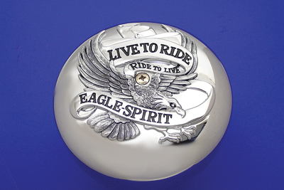 V-Twin 34-0524 - Chrome Eagle Spirit Air Cleaner