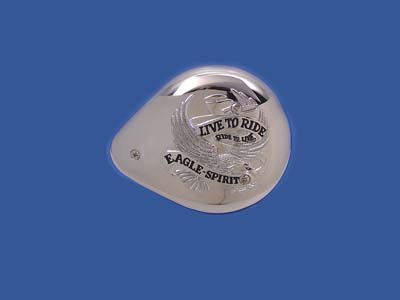 V-Twin 34-0532 - Eagle Spirit Chrome Tear Drop Air Cleaner