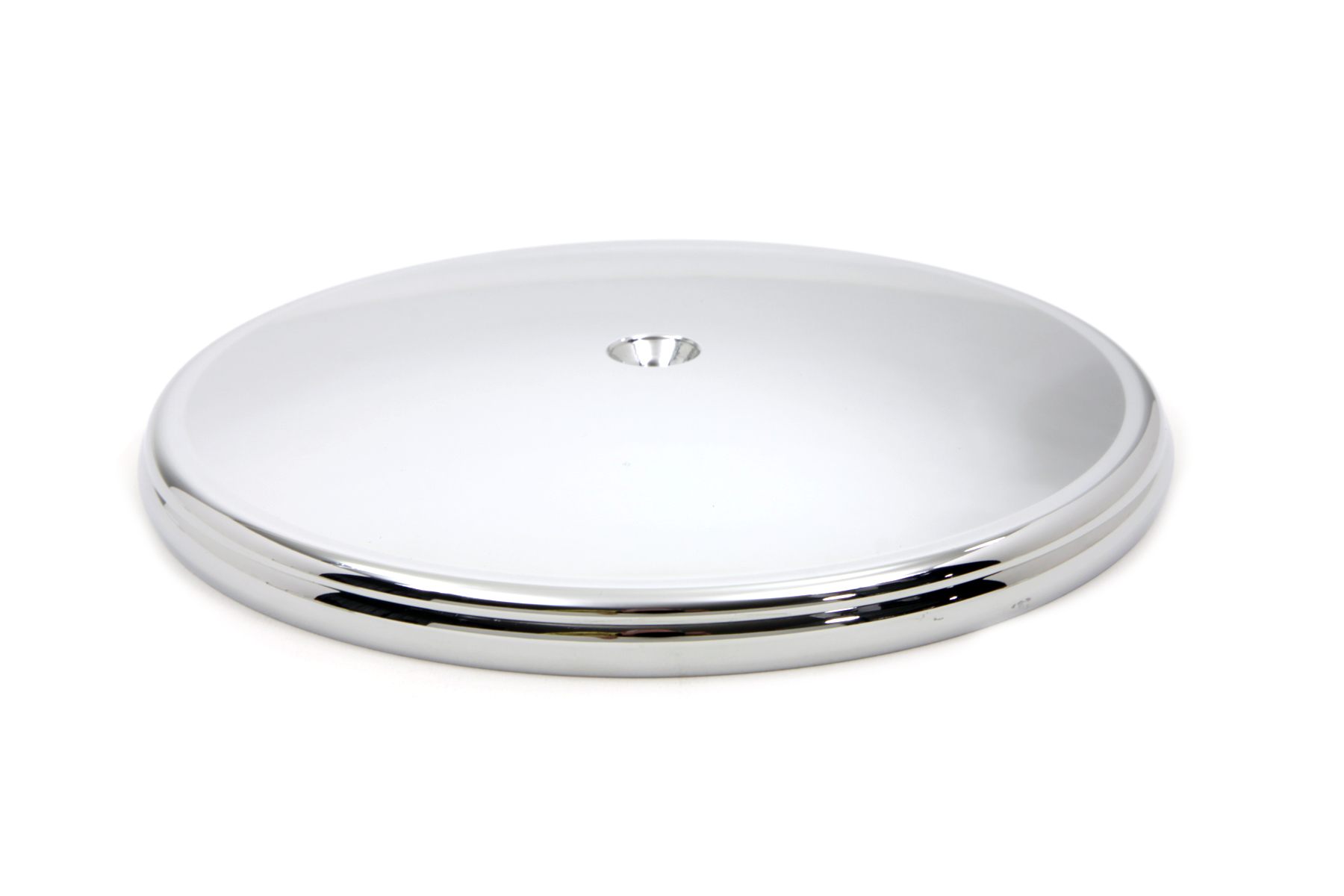 "V-Twin 34-0533 - 8"" Round Air Cleaner Cover Chrome"