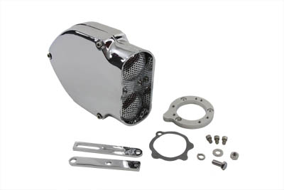 V-Twin 34-0616 - V-Charger Air Cleaner Kit Chrome