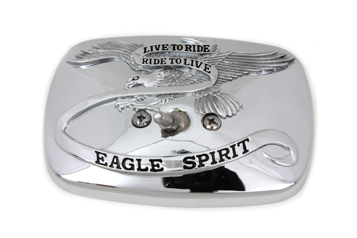 EAGLE SPIRIT MIRROR HEAD, CHROME VTWIN 34-0731