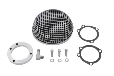 V-Twin 34-0732 - Round Mesh Air Cleaner Chrome