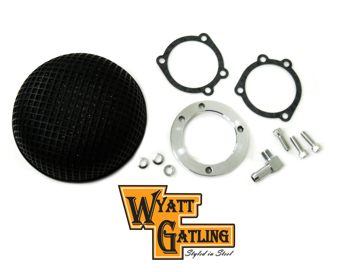 V-Twin 34-0742 - Round Mesh Air Cleaner Black