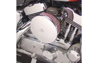 V-Twin 34-0807 - Velo Dish Air Cleaner Chrome