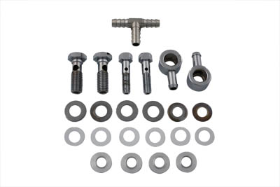 V-Twin 34-0808 - Breather Bolt and Banjo Kit with Tee