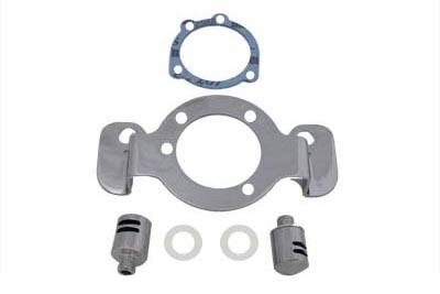 V-Twin 34-0851 - Breather and Bracket Kit Chrome