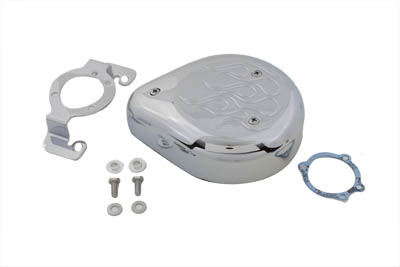 V-Twin 34-0883 - Tear Drop Air Cleaner Kit Chrome Flame