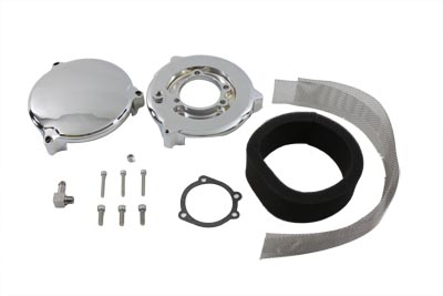 V-Twin 34-1095 - New Era Air Cleaner Smooth Chrome
