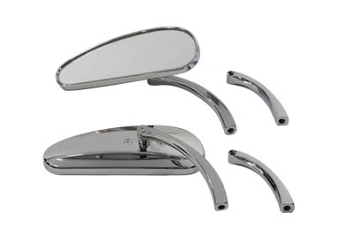 V-Twin 34-1217 - Deco Mirror Set Billet Chrome