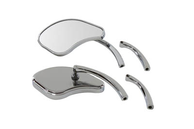 V-Twin 34-1226 - Pork Chop Mirror Set Billet