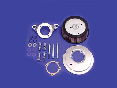 V-Twin 34-1257 - Hi-Flow Air Cleaner Back Plate Kit Chrome