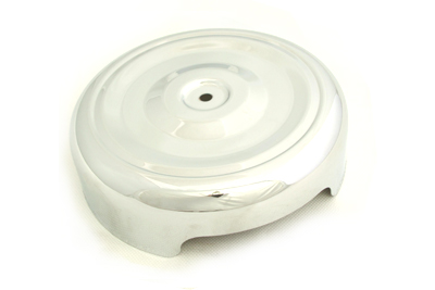 "V-Twin 34-1354 - Chrome Round Bobbed Style 8"" Air Cleaner Cover"