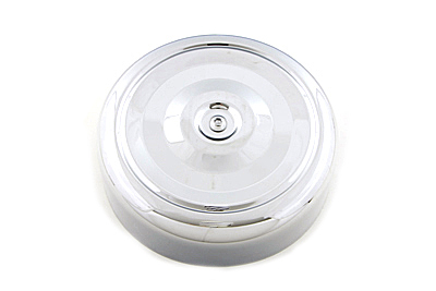 "V-Twin 34-1379 - Chrome Round Bobbed Style 7"" Air Cleaner Cover"