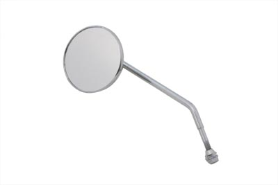 V-Twin 34-1567 - Round Mirror Chrome with Round Stem