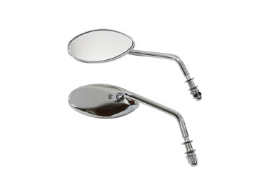 V-Twin 34-1579 - Tear Drop Mirror Set Chrome