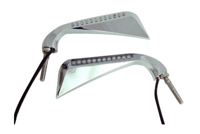 V-Twin 34-1832 - Chrome Evil Eye LED Mirror Set