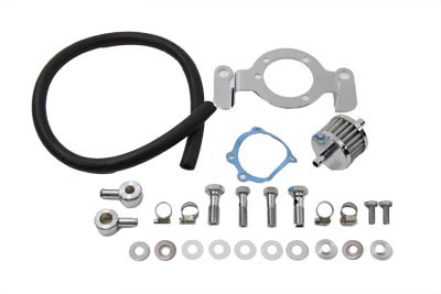 V-Twin 35-0125 - Crankcase Breather and Bracket Kit