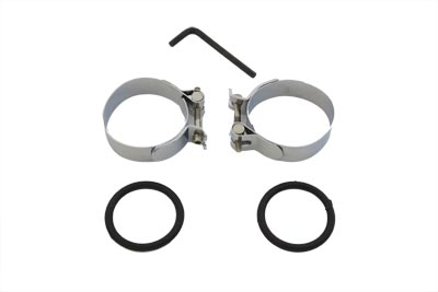 V-Twin 35-0408 - Chrome Intake Manifold Clamp Set