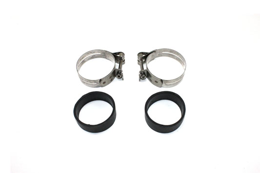 V-Twin 35-0418 - Stainless Steel Intake Manifold Clamp Set