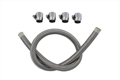 V-Twin 35-9170 - Braided Fuel Line Kit Stainless Steel