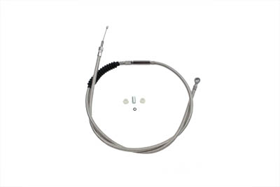 "V-Twin 36-0558 - 65.69"" Braided Stainless Steel Clutch Cable"