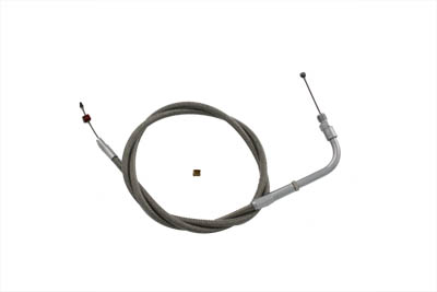 "V-Twin 36-0639 - 36.75"" Braided Stainless Steel Throttle Cable"