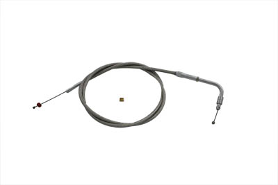 V-Twin 36-0735 - Braided Stainless Steel Throttle Cable with 42.