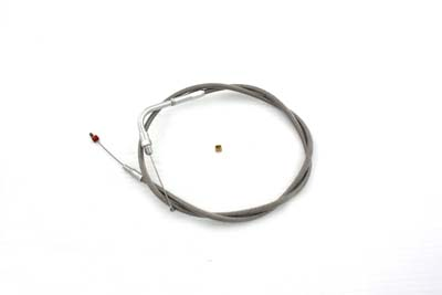 V-Twin 36-1508 - Braided Stainless Steel Throttle Cable