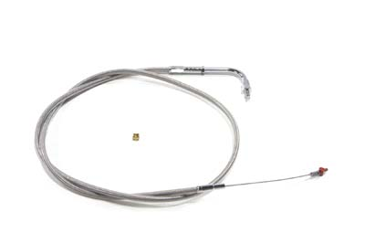 "V-Twin 36-1515 - 42.875"" Braided Stainless Steel Idle Cable"
