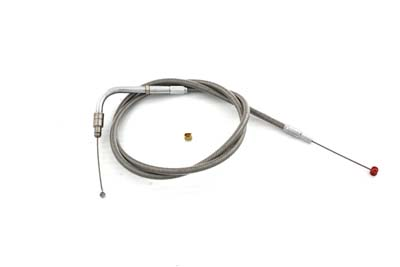 "V-Twin 36-1516 - 35.25"" Braided Stainless Steel Throttle Cable"