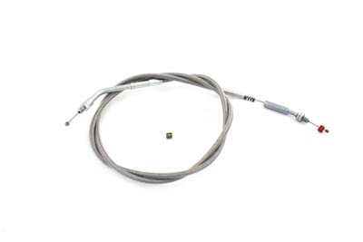 V-Twin 36-1547 - Braided Stainless Steel Idle Cable with 46.50""