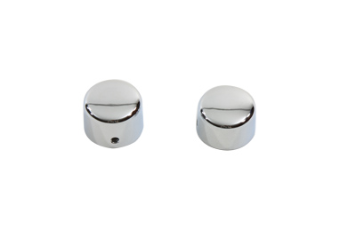 V-Twin 37-0036 - Chrome Front Axle Cap Cover Set Cap Style